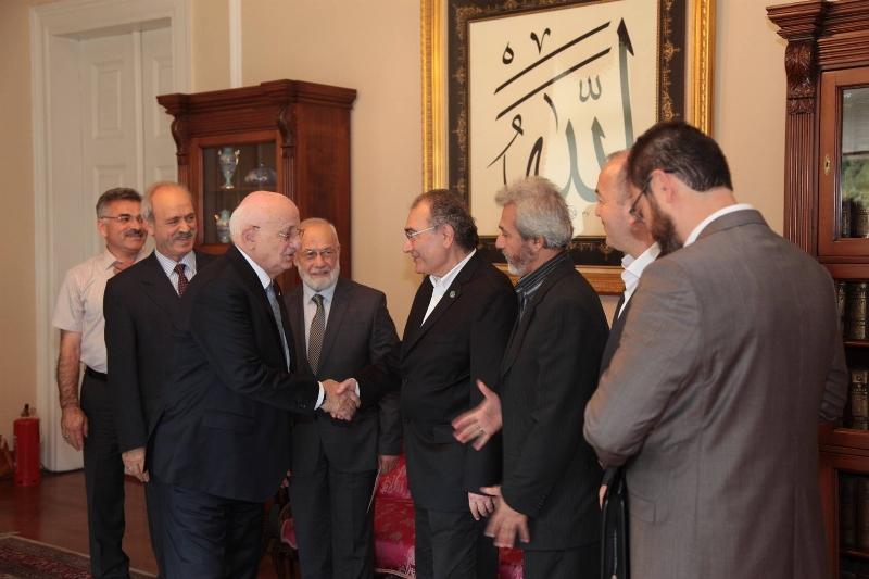 ASDER ve ASSAM TBMM Başkanı Kahraman'a geçmiş olsun ziyaretinde bulundu.