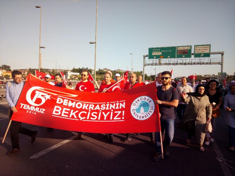 Üsküdar Üniversitesi 'Milli Birlik Yürüyüşü' nde…