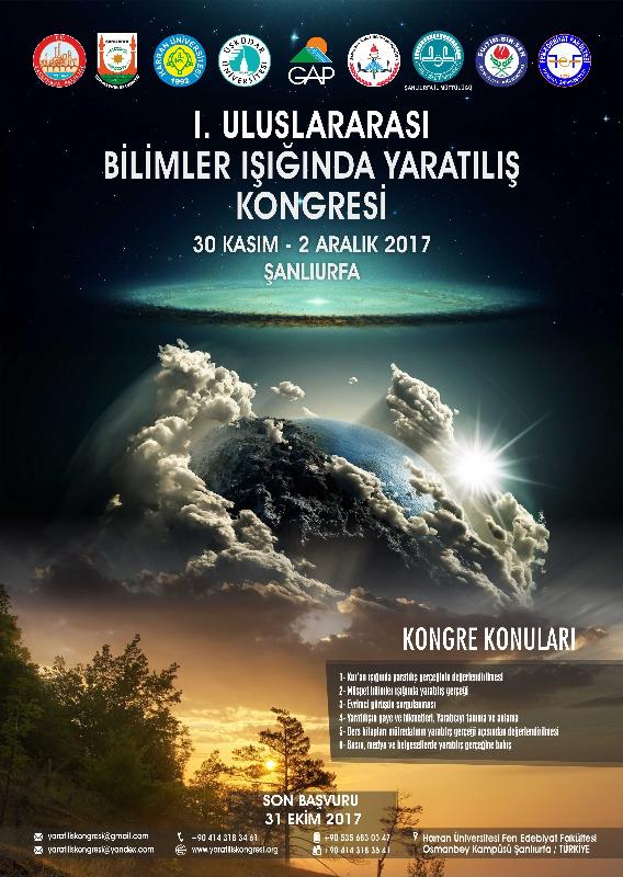 Uluslararası Bilimler Işığında Yaratılış Kongresi  Şanlıurfa'da yapılacak