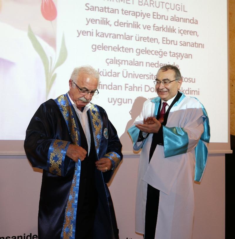 Ebru Sanatçısı Hikmet Barutçugil'e fahri doktora… 3