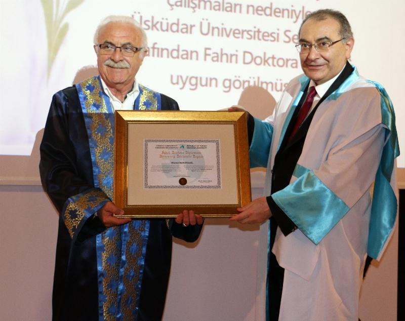 Ebru Sanatçısı Hikmet Barutçugil'e fahri doktora… 2