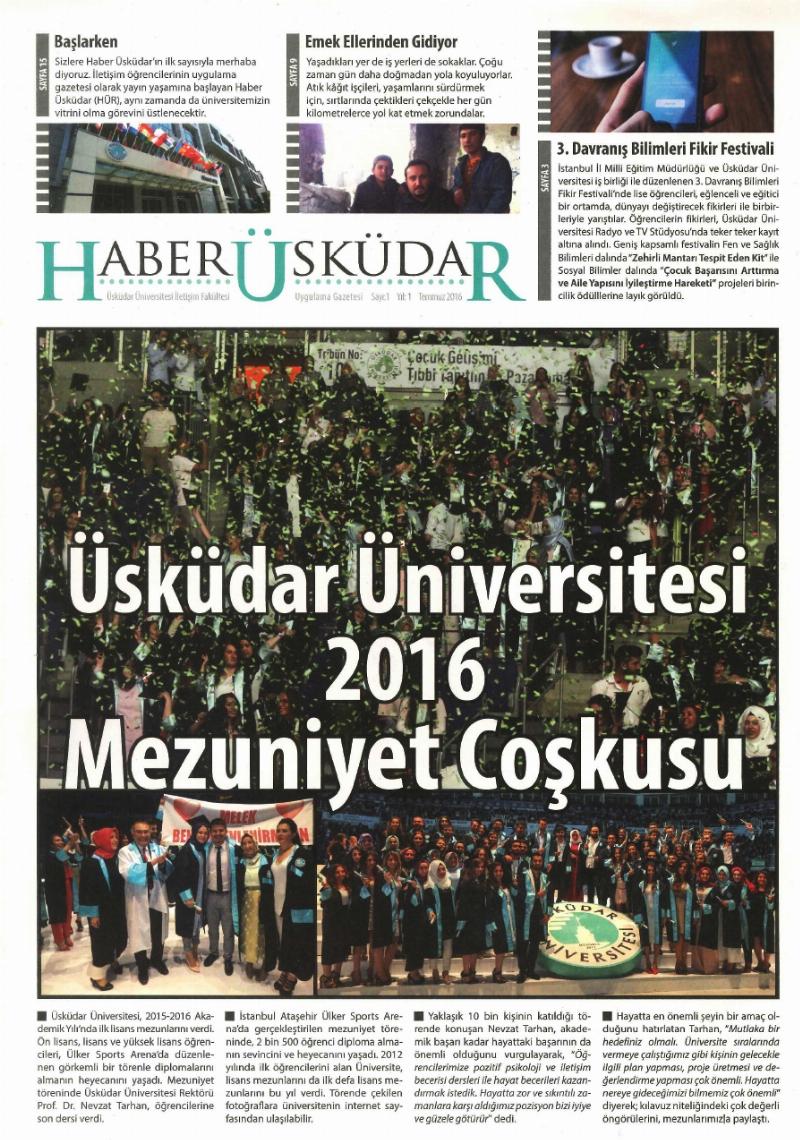"""""""Haber Üsküdar"""" İstanbul için gazete, iletişim öğrencileri için de iyi bir okul olacak!"""