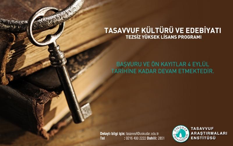 Tasavvuf Kültürü ve Edebiyatı Yüksek Lisans Programı her branştan kişiye kapılarını açıyor