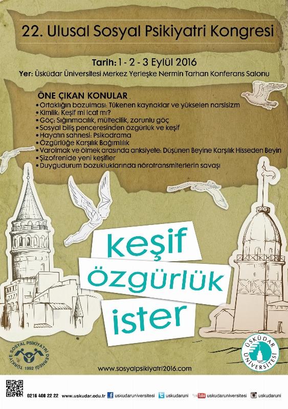 22. Ulusal Sosyal Psikiyatri Kongresi 1 Eylül'de İstanbul'da başlıyor...
