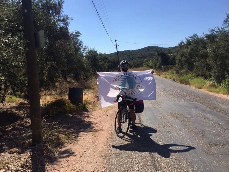 Bisiklete teşvik için bin 200 km pedal çevirdi... 2