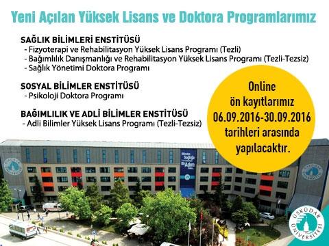 Üsküdar Üniversitesinden yeni yüksek lisans ve doktora programları…