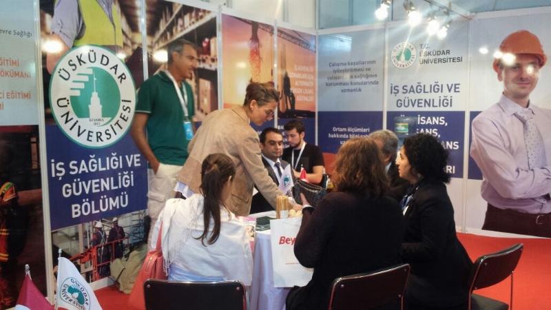 İş Güvenliği ve İş Sağlığı Fuarında Üsküdar Üniversitesi'ne ilgi yoğun!