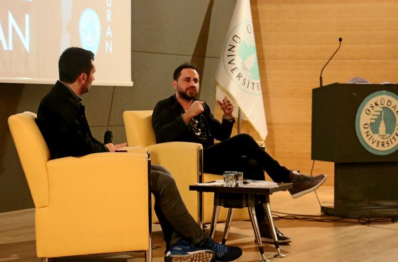 Sevilen Sanatçı Bora Duran Üsküdar Üniversitesi'ndeydi…