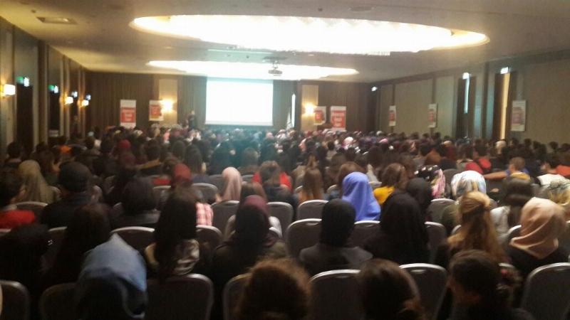 Ece Tözeniş 600 öğrenci ile Samsun'da buluştu.
