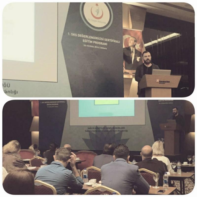 Tekin, Türkiye'nin 2020 Dünya Radyoteknoloji Kongresine adaylık sunumunu yaptı.