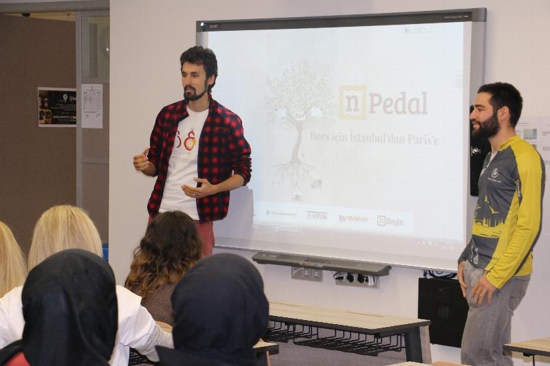 Üsküdar Üniversitesi dünyayı turlayan bisikletçileri ağırladı…