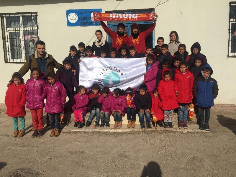 Üsküdarlı öğrenciler öğrenci kardeşleri için şimdi de Şanlıurfa'da