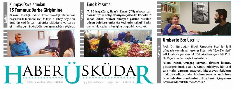 Haber Üsküdar'ın 2. sayısı yayımlandı
