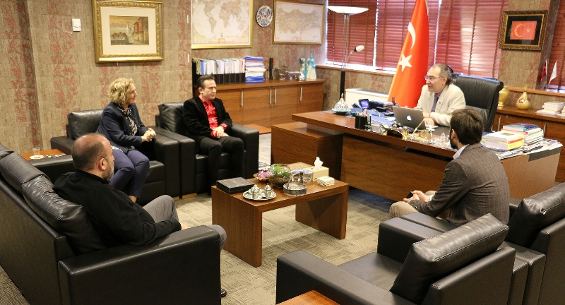 Tuzla Belediye Başkanı Dr. Şadi Yazıcı Üsküdar Üniversitesi'ni ziyaret etti