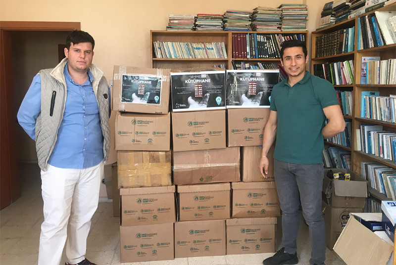 24 packages of books donated from Üsküdar University students to Afyon