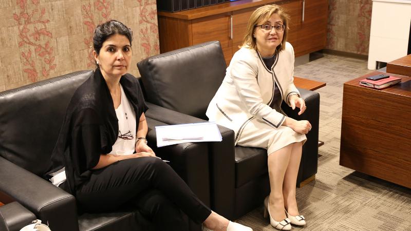 Gaziantep Büyükşehir Belediye Başkanı Fatma Şahin, Prof. Dr. Nevzat Tarhan'ı ziyaret etti 2
