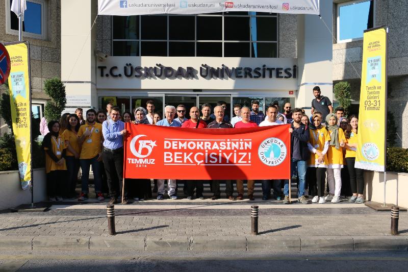 Üsküdar Üniversitesi 'Milli Birlik Yürüyüşü' nde… 2