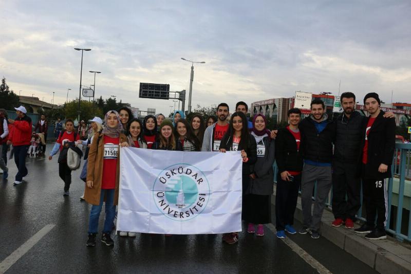 Üsküdar Üniversiteliler İstanbul Maratonu'na katıldı