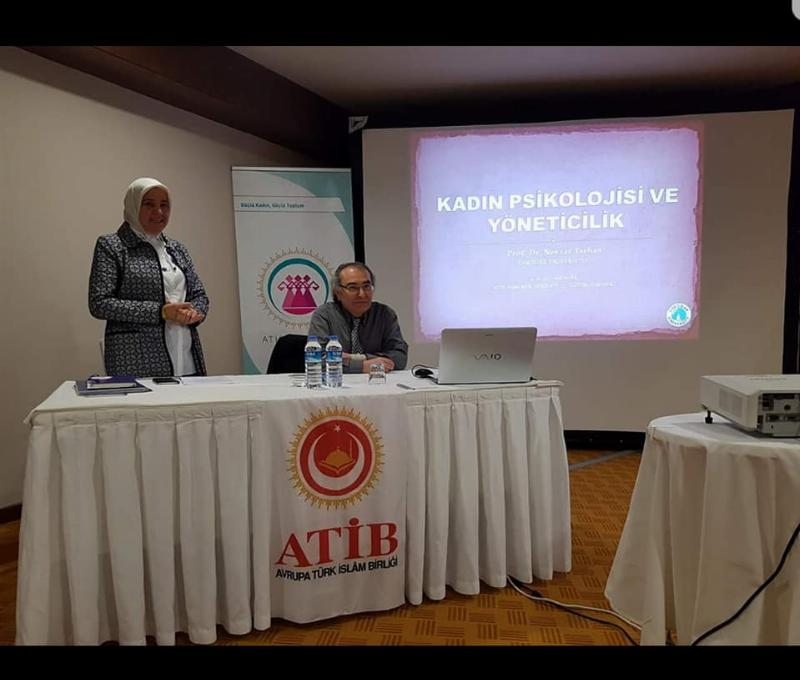"""Prof. Dr. Nevzat Tarhan ATİB üyelerine """"Toplum psikolojisi ve empati"""" yi anlattı. 2"""