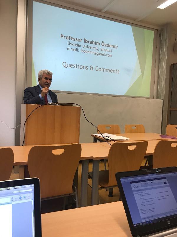 Prof. Dr. İbrahim Özdemir'den, Tübingen İslam İlahiyat Merkezi'nde yılın son dersi 2