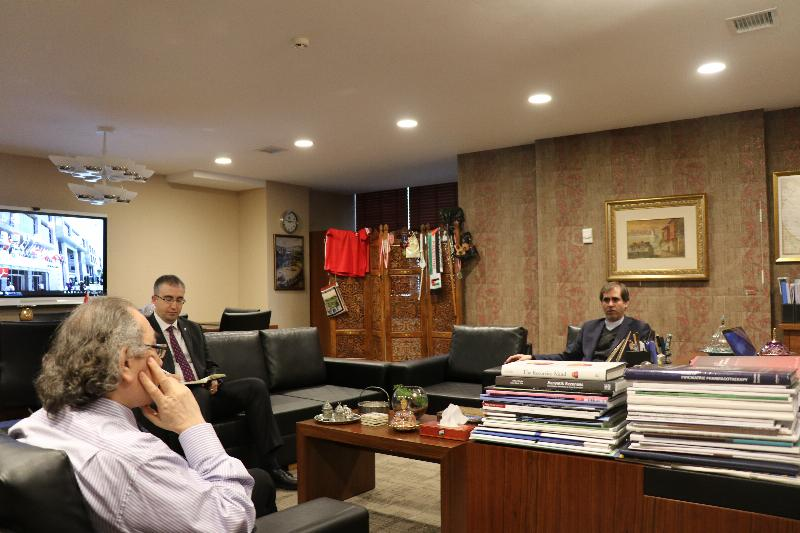 Embassy of Iran Visited Prof. Nevzat Tarhan