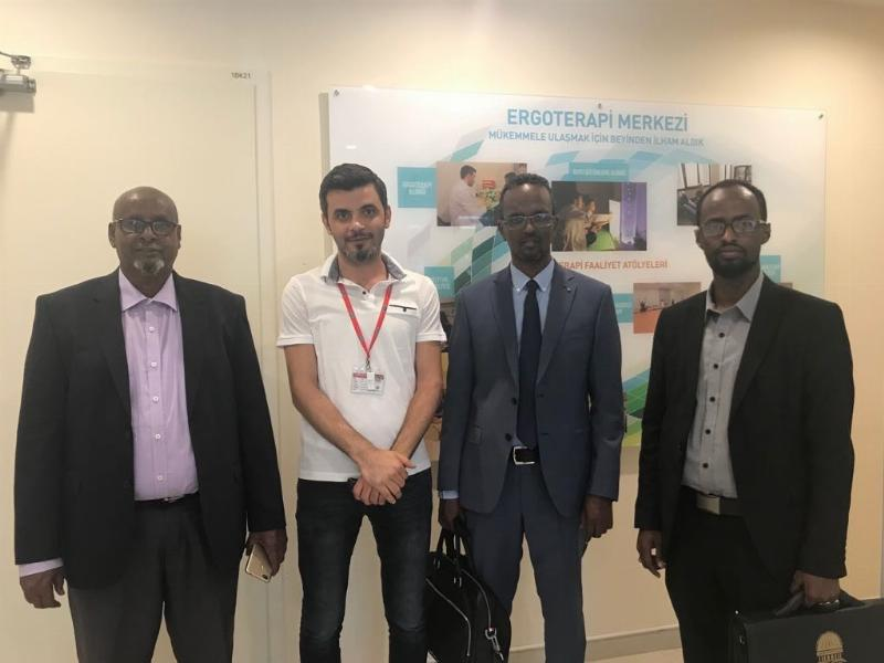Somali Üniversitesi Rektörü Prof. Mohammed Ahmet Moalim NPİSTANBUL Beyin Hastanesini Ziyaret Etti