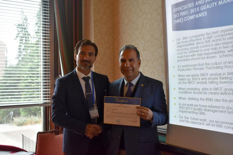 Dr Faculty Member Hasan Çiçek attended a conference in Scotland 2