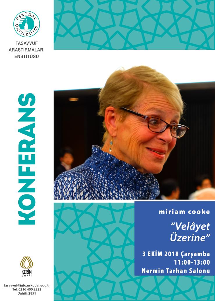 """Prof. miriam cooke, """"İslam, Kültür ve Kadın"""" üzerine ders verecek"""