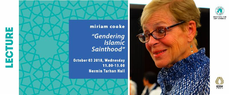 "Prof. miriam cooke will give lectures on ""Islam, Culture and Women"""
