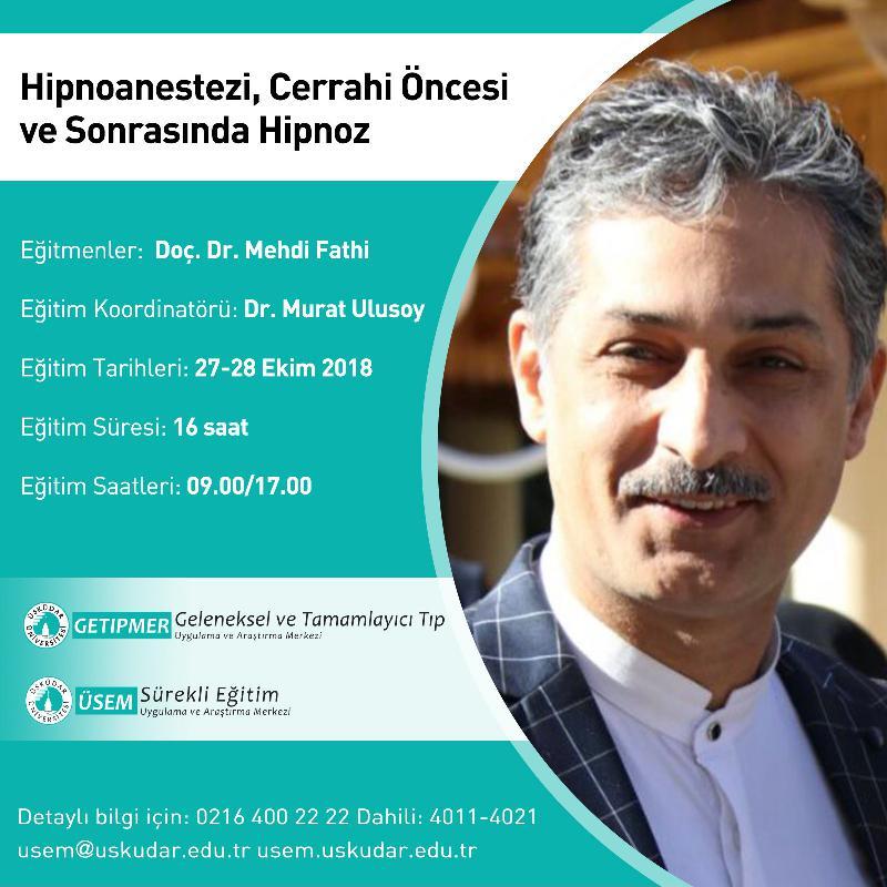 Hipnoanestezi, Üsküdar Üniversitesi'nde konuşulacak