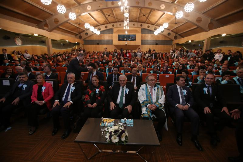 The Speaker of the Grand National Assembly of Turkey Mr. Binali Yıldırım received an Honorary Doctorate Degree from Üsküdar University 2