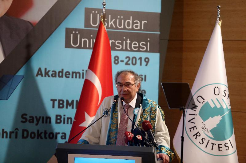 The Speaker of the Grand National Assembly of Turkey Mr. Binali Yıldırım received an Honorary Doctorate Degree from Üsküdar University 3