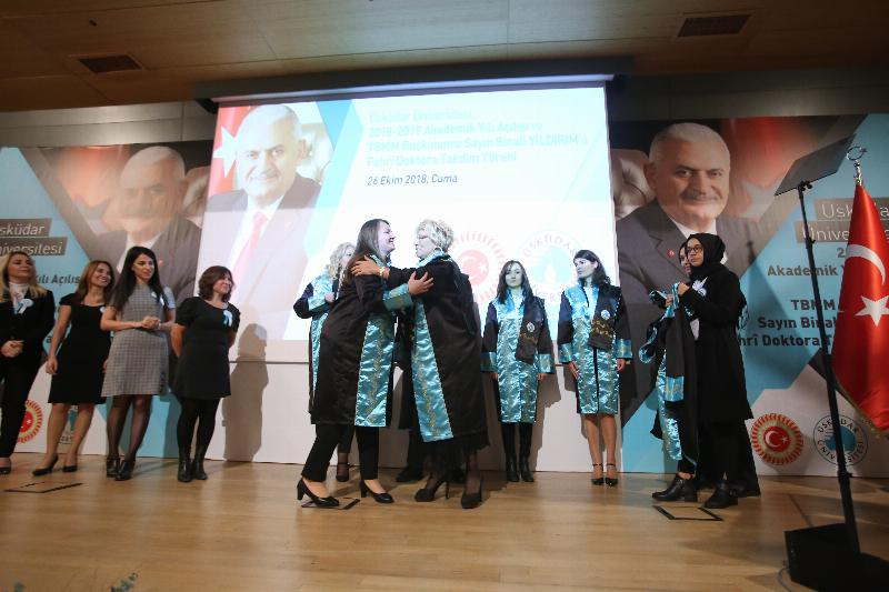 The Speaker of the Grand National Assembly of Turkey Mr. Binali Yıldırım received an Honorary Doctorate Degree from Üsküdar University 10