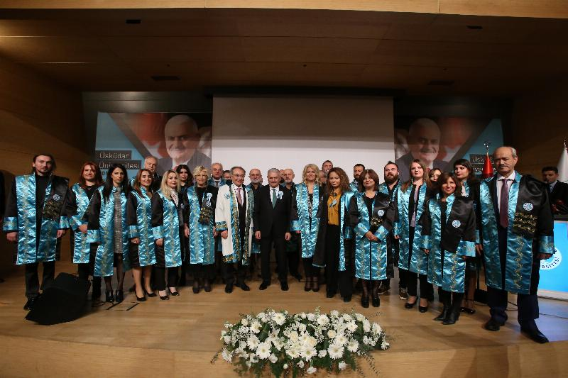 The Speaker of the Grand National Assembly of Turkey Mr. Binali Yıldırım received an Honorary Doctorate Degree from Üsküdar University 13