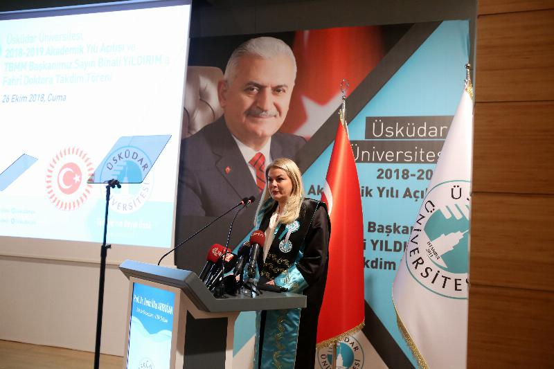 The Speaker of the Grand National Assembly of Turkey Mr. Binali Yıldırım received an Honorary Doctorate Degree from Üsküdar University 4