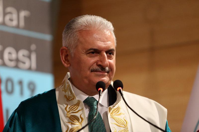The Speaker of the Grand National Assembly of Turkey Mr. Binali Yıldırım received an Honorary Doctorate Degree from Üsküdar University 9