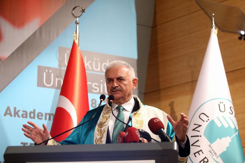 The Speaker of the Grand National Assembly of Turkey Mr. Binali Yıldırım received an Honorary Doctorate Degree from Üsküdar University 7