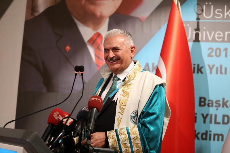 The Speaker of the Grand National Assembly of Turkey Mr. Binali Yıldırım received an Honorary Doctorate Degree from Üsküdar University 8