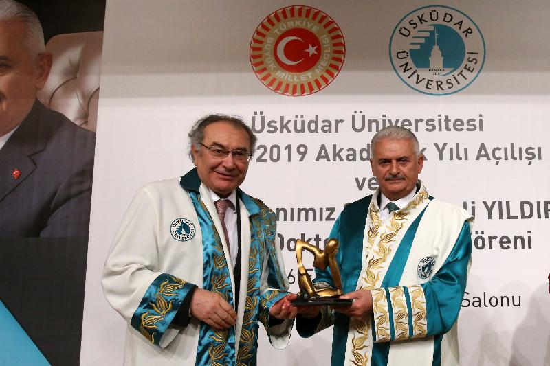 The Speaker of the Grand National Assembly of Turkey Mr. Binali Yıldırım received an Honorary Doctorate Degree from Üsküdar University 14