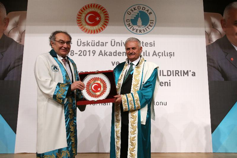 The Speaker of the Grand National Assembly of Turkey Mr. Binali Yıldırım received an Honorary Doctorate Degree from Üsküdar University 15