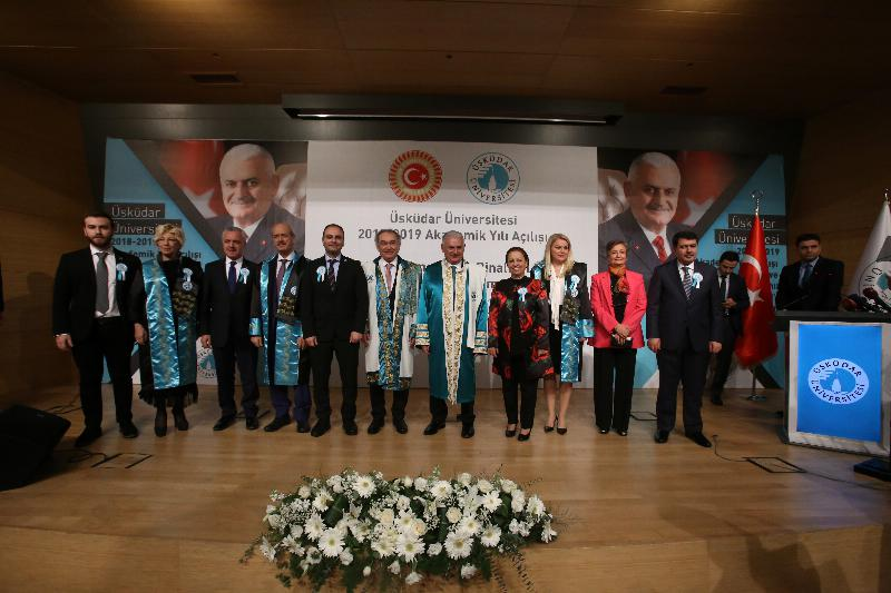 The Speaker of the Grand National Assembly of Turkey Mr. Binali Yıldırım received an Honorary Doctorate Degree from Üsküdar University 16