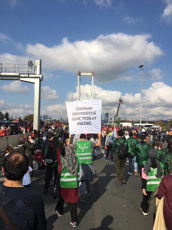 Üsküdar Üniversitesi İstanbul Maratonu'na katıldı 2