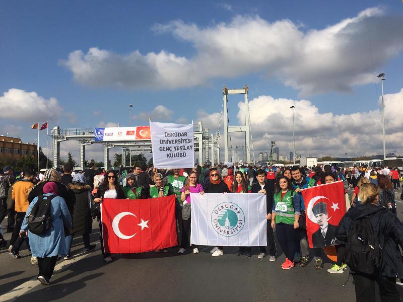 Üsküdar Üniversitesi İstanbul Maratonu'na katıldı