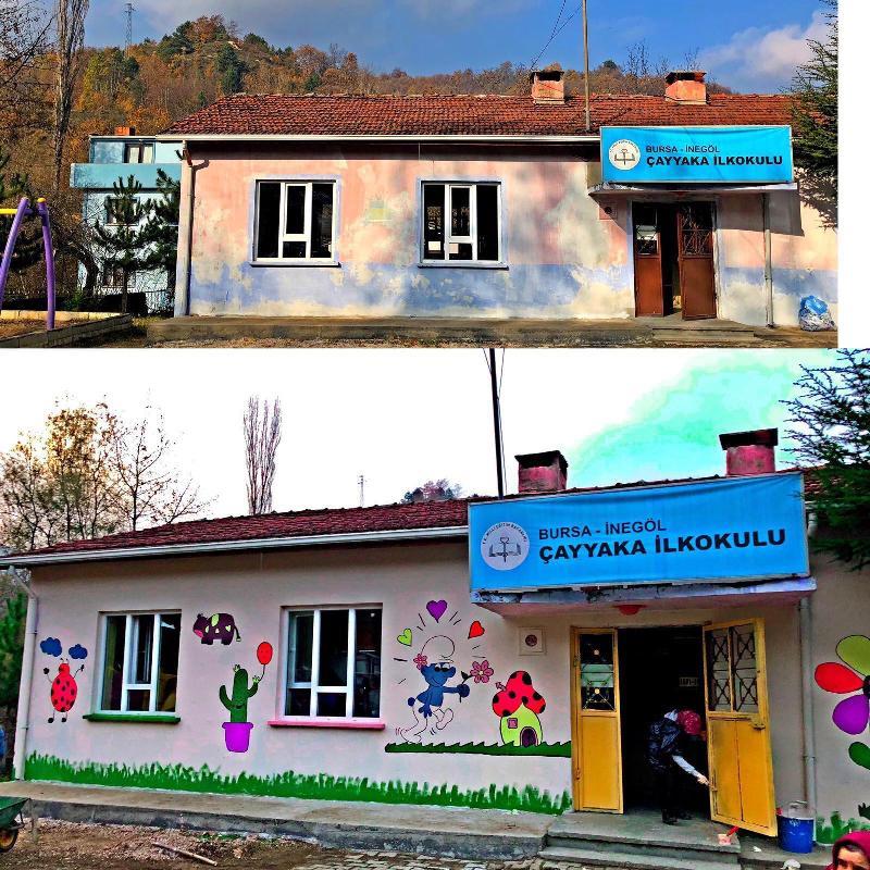 Çayyaka İlkokulu Üsküdarlı öğrencilerle yeni görünüme kavuştu 4