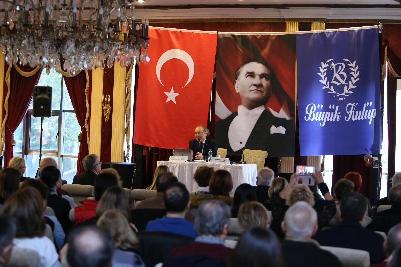 """Prof. Dr. Nevzat Tarhan Büyük Kulüp'te """"Mutluluk Bilimi"""" ni anlattı"""