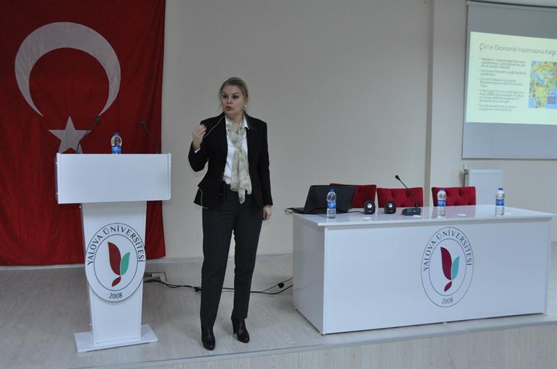 Prof. Dr. Deniz Ülke Arıboğan Yalova Üniversitesinde 2