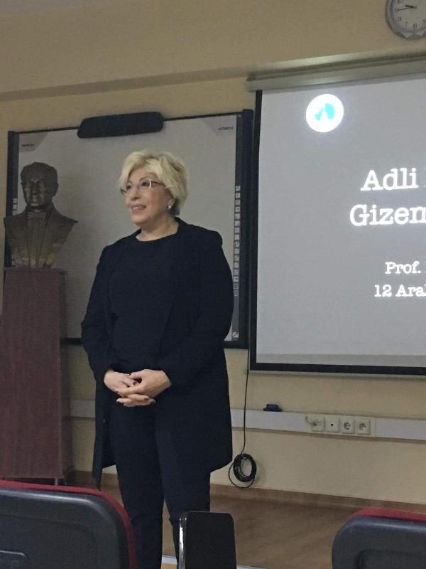 Prof. Dr. Sevil Atasoy Adli Bilimlerin gizemli dünyasını anlattı