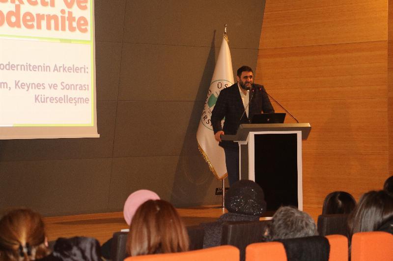 """""""Ekonomi-Politik Bir Süreç Olarak Sûf Hareketi ve Modernite"""" konferansı yapıldı"""