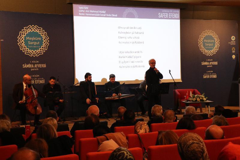 """""""Meşkure Sargut Hatırasına"""" programı ile mütefekkir ve mutasavvıf yazar Sâmiha Ayverdi ve vefatının 20. Yılında Safer Efendi anıldı 5"""