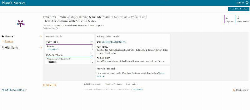 PlumX and Altmetrics applications used for the first time by Üsküdar University 4